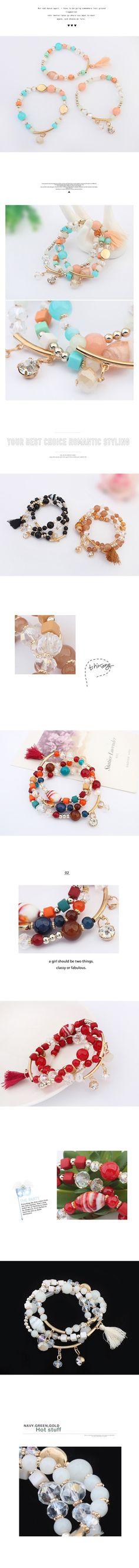 Wholesale Occident fashion multi-layer tree-layer beads bracelet ( black ) | Callesetas
