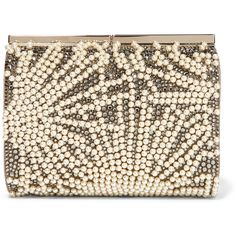 Jimmy Choo Cate Swarovski crystal-embellished suede clutch, Women's ($3,315) ❤ liked on Polyvore featuring bags, handbags, clutches, white, suede purse, jimmy choo clutches, swarovski crystal purse, clasp purse and embellished purses