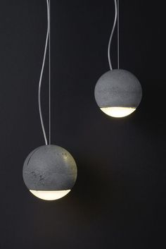 Trabant - Hand-cast concrete pendant lamp - Designed by Joachim Manz for Tecnolumen