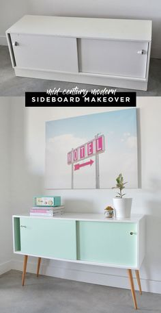 Mid-century modern furniture makeover wtih DIY tips for your own project. via @visualheart