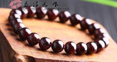 Free S&H  Stretchy 22 8mm Natural Garnet by EasternTreasury