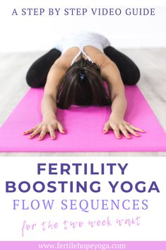 The two week wait is an incredibly stressful time. Use these yoga poses for the two week wait to help you destress and prepare the body for pregnancy. #fertility #infertility #ivf#twoweekwait Fertility Boosters, Fertility Yoga, Natural Fertility, Fertility Diet, Get Pregnant Fast, Getting Pregnant, Pregnant Tips, Hormon Yoga, Yoga Flow Sequence
