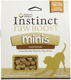 Nature's Variety Instinct Raw Boost Mini Bites - Duck Formula (these are AWESOME little freeze dried raw pieces that we love to use for training)