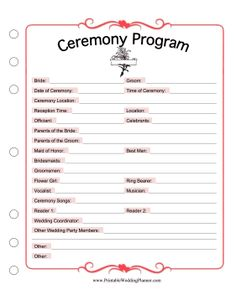 wedding ceremony song list template