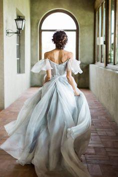 Dove grey wedding dress