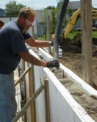 Insulating concrete saves as much as 20% of energy over a timber frame structure.