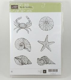 Stampin Up BY THE SEASHORE Stamp Set Crab Starfish Shells Pre Owned #StampinUp