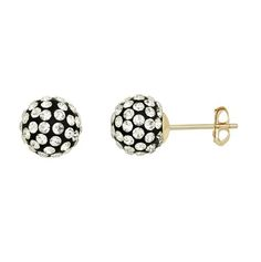 10K Yellow Gold White & Black Crystal Earrings for sale at Walmart Canada. Get Jewellery & Watches online at everyday low prices at Walmart.ca