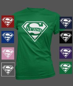 Nursing T- Shirt Super Nurse #Gildan #LadiesGraphicTShirt