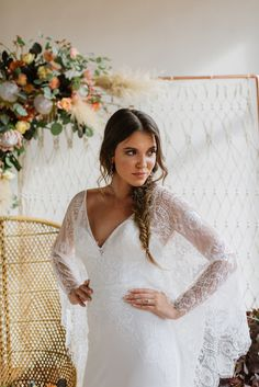 Autumn hues, bohemian vibes, and bridal fashion that exudes a free spirited elegance? 2015 Wedding Dresses, Wedding Dress Styles, Bridal Dresses, Lace Weddings, Boho Wedding, Fall Wedding, Wedding Ideas, Mermaid Wedding, Wedding Planning