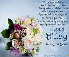 Happy Birthday Wishes For Boss Cards