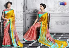 Go simply outstanding with your desired elegance by wearing this beige colored georgette saree, embracing an artistic touch of floral motifs all over to catch the attention & steal the hearts wherever you go. We are the leading organization actively engaged in offering an extensive array of  Saptrangi Season-3 Digital Signature Sarees for our fashion conscious clients.