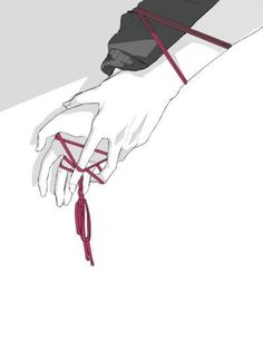 The Red String of Fate; an ancient Chinese legend, used in rituals of matrimony… Story Inspiration, Writing Inspiration, Character Inspiration, Character Design, Naruhina, Manga Art, Manga Anime, Anime Art, Manga Drawing