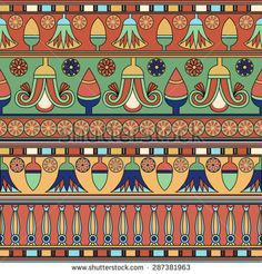 Egyptian ornament. ?ollection. Vector illustration Egyptian Era, Egyptian Symbols, Egyptian Costume, Ancient Egypt Art, Ancient Aliens, Ancient Artifacts, Ancient Greece, Ancient History, Egyptian Furniture