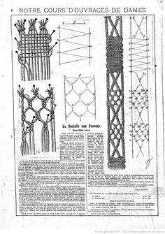 """La Dentelle aux Fuseaux. Deuxieme leçon. Notre cours d'ouvrages de dames. Les Dimanches de la femme : supplément de la """"Mode du jour"""" 1923/08/26 (A2,N77)."""