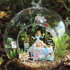 Gardens diy and crafts and products on pinterest for Alice in wonderland fairy garden