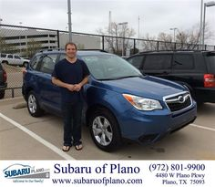 https://flic.kr/p/F5YGD7 | Happy Anniversary to Wyatt on your #Subaru #Forester from Bill Burke at Subaru of Plano! | deliverymaxx.com/DealerReviews.aspx?DealerCode=K252