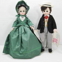 Madame Alexander Dolls Rhett and Scarlett from Gone With The Wind.
