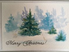 Watercolor Christmas cards.