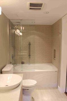23 Small Full Bathroom Remodel Ideas For Best Bathroom Inspiration Bathroom Shower Doors, Condo Bathroom, Bathtub Shower, Diy Bathroom Remodel, Glass Shower Doors, Shower Remodel, Master Bathroom, Bathroom Remodeling, Glass Door