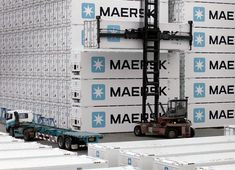 Maersk distribution cargo containers