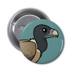 Indian Vulture Button