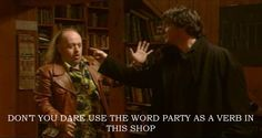 black books quotes will never stop making me laugh - my favourite quote! English Comedy, British Comedy, Black Books Quotes, Book Quotes, Dylan Moran, Charlie Kelly, Tv Show Quotes, Pretty Photos, Book Tv