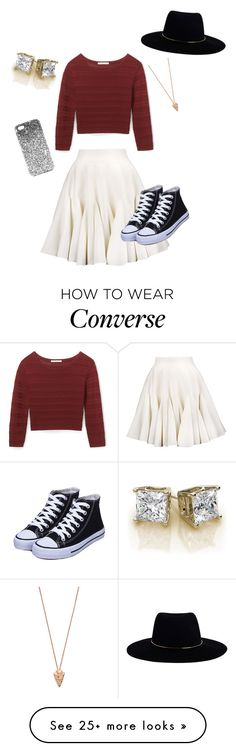 """""""Rockin the converse"""" by suefashiondiva09 on Polyvore featuring Rebecca Minkoff, Pamela Love, Zimmermann and Topshop"""