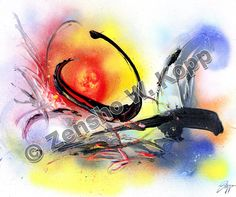 Abstract – The Zen-Paintings by Zen-Master Zensho W. Zen Painting, Zen Master, Zen Art, Watercolor Tattoo, Mystic, Meditation, Watercolours, Tao, Abstract