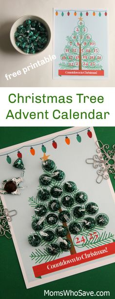 Countdown to Christmas #Free Printable -- Christmas Tree Advent Calendar     #Christmas #printable