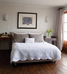 Brick-Walled Bedroom | photo André Rider | House & Home