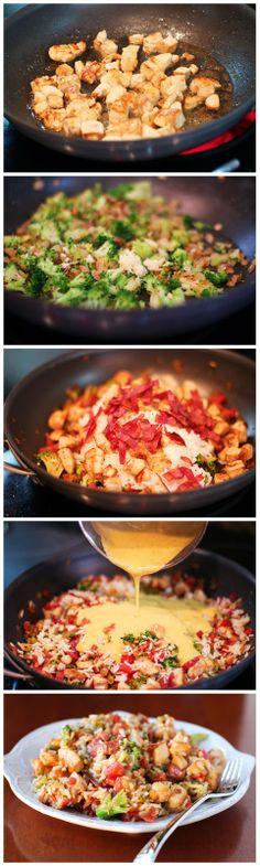 Cheesy Chicken Bacon Broccoli and Rice