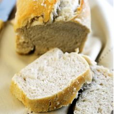 The blend of flours in this Crunchy Country Loaf Recipe creates a delicious loaf too good to resist!