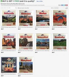 Buy 2, get 1 FREE! Scholastic state books--perfect to learn about different states! #homeschool #Colorado #California #Kentucky #CT #Maryland #Mississippi #Nevada #Alabama #Oklahoma #Maine