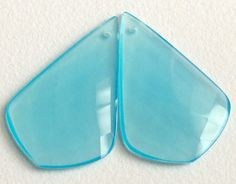 Aqua Chalcedony Faceted Fancy Pear 2 pcs Matched by gemsforjewels