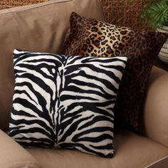 Faux Animal Print Decorative Pillow $25.00