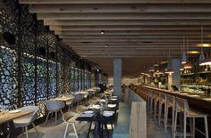 Bindella Osteria & Bar opens its first restaurant in Tel Aviv: a relaxed contemporary design concept. #RestaurantDesign #ArchiJuice #hospitalitydesign