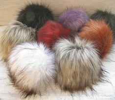 8 set of pompoms Vegan Faux  Fur Pom Poms Extra by AlbadoFashion