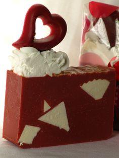 White Truffle Raspberry Soap by MalenasGourmet on Etsy, $5.00