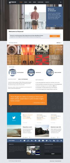 Octavus, WordPress Premium Plugins Ready Creative Theme