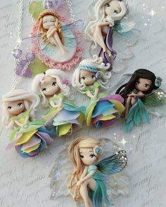 Polymer Clay Figures, Cute Polymer Clay, Cute Clay, Polymer Clay Dolls, Polymer Clay Crafts, Polymer Clay Jewelry, Fairy Crafts, Doll Crafts, Cold Porcelain Tutorial
