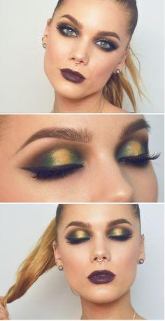 Todays look smoked purple makeup eyes