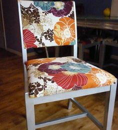 Reupholstered kitchen chairs