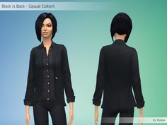 Black is Back - Casual Colbert By Kliekie #Download #Sims4 #TS4 #MM #CC #MMCC #TS4MM #TS4Finds #CustomContent #Sims4CC #Clothing #Casual #Generic #Women #Female #YoungAdult #Adult #Elder #Black