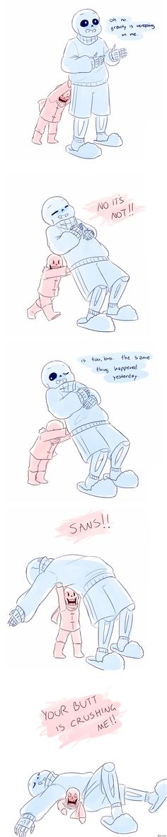 Gravity increasing ||| Sans and Papyrus ||| Undertale + Lilo and Stitch Fan Art by chaoticshero on DeviantArt