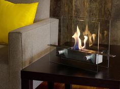 I will take one of these please Santa  Metropolitan Tabletop Fireplace -- LivingSocial Shop
