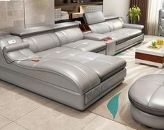 Sectional Comfort Leather Sofa For Home Furniture – My Aashis