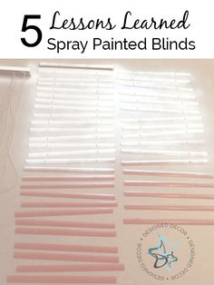 Spray Painted Blinds Findfixbuild Diy Projects