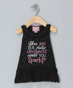 """""""You are not fully dressed until you sparkle""""."""