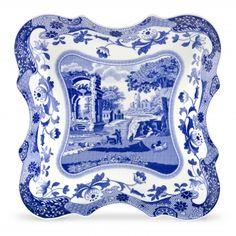 Blue Italian tray from Spode